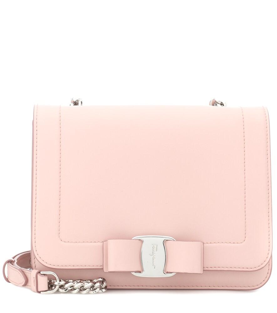 Salvatore Ferragamo Vara Leather Crossbody Bag - Pink  6c9a339f724d9