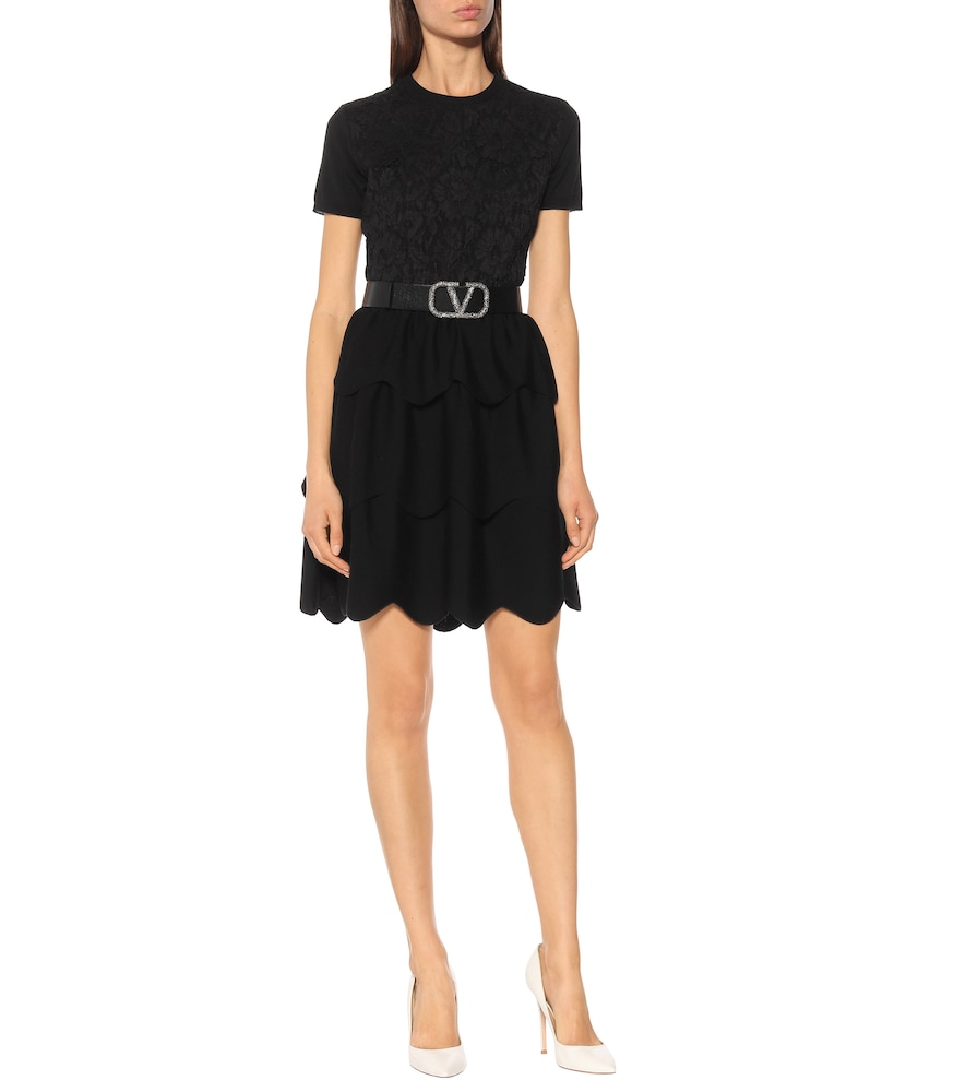 Wool and cotton-blend dress by Valentino