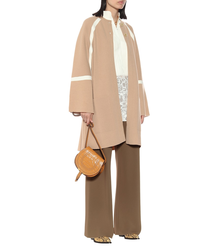 Oversized wool and cashmere coat by Chloé