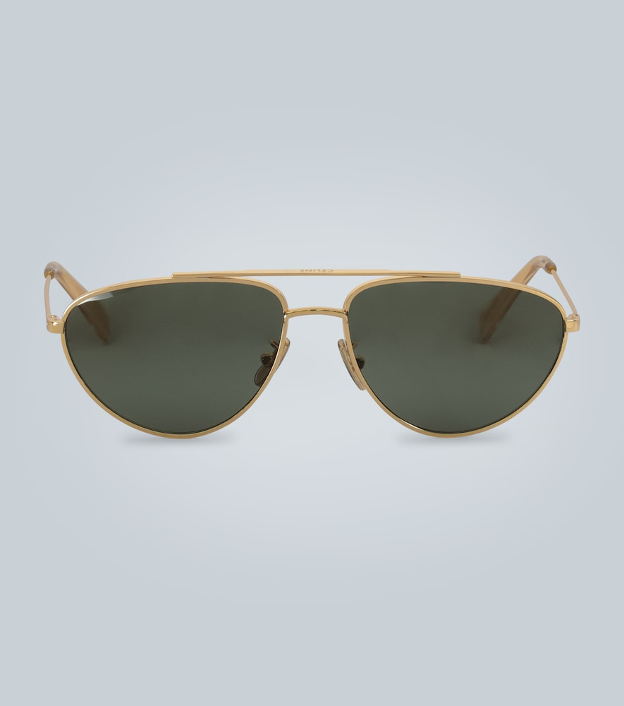 Double-bar metal sunglasses