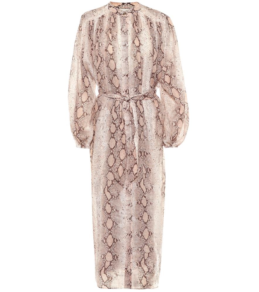 Bellitude ramie midi dress by Zimmermann