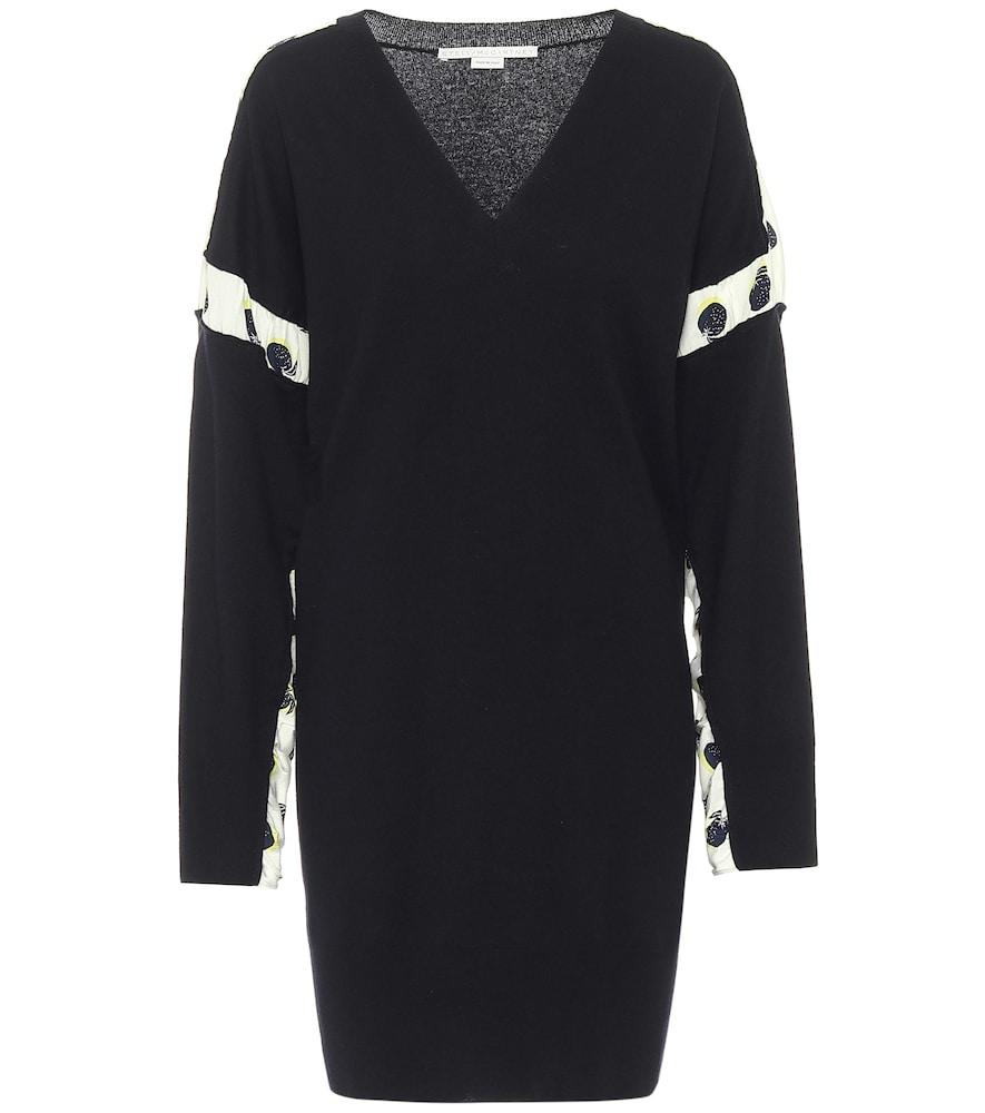 Wool and silk minidress