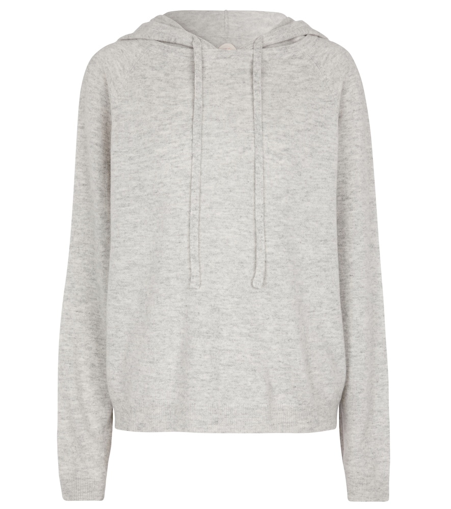 Wool and cashmere knit hoodie