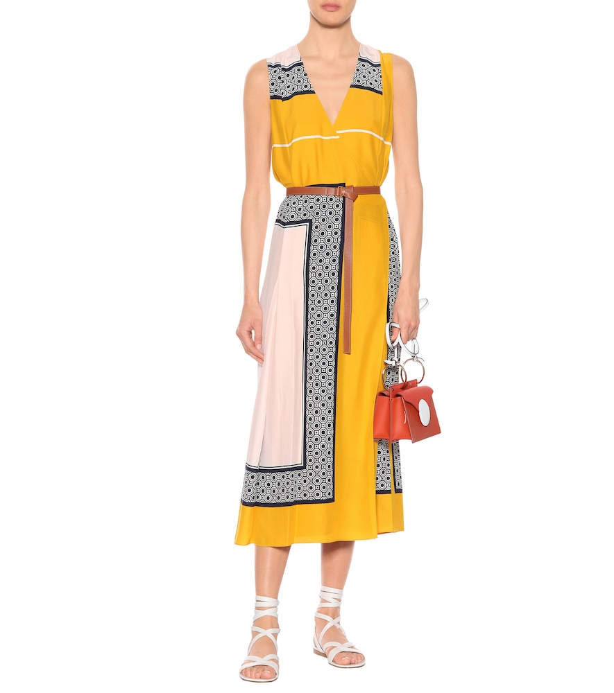 Clarice silk wrap dress by Tory Burch