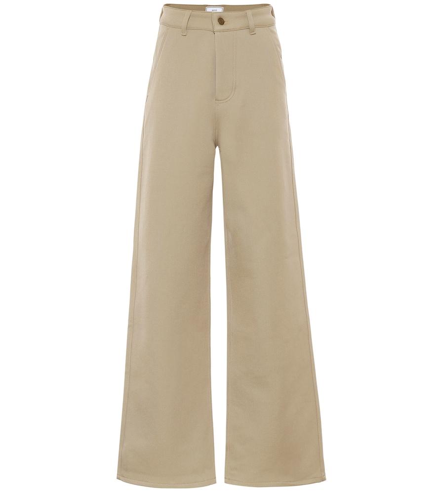 Pantalon en laine mélangée - AMI - Modalova