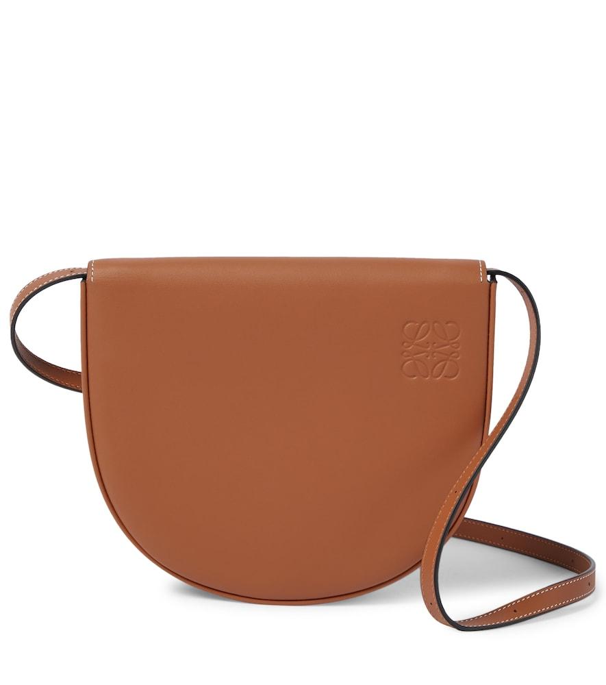Heel leather crossbody bag