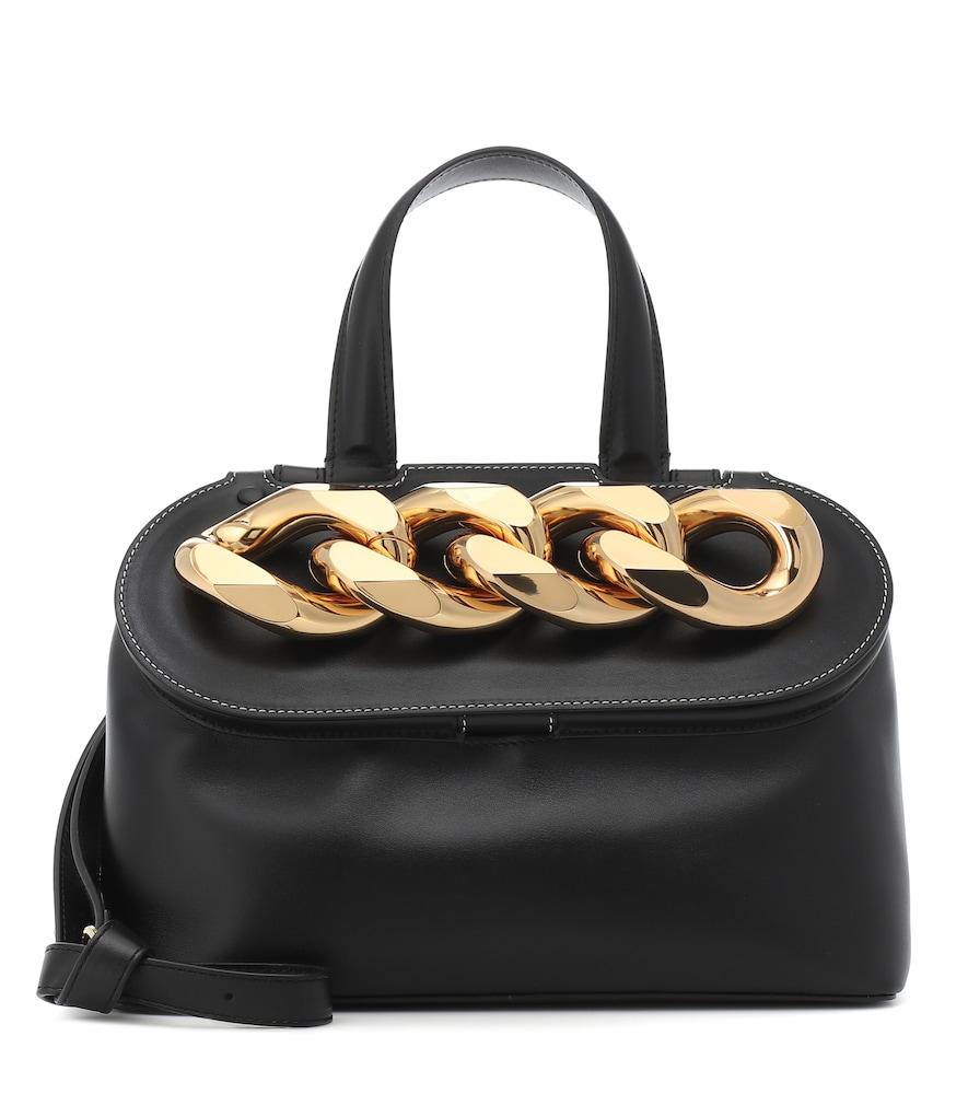Jw Anderson Black Chain-embellished Leather Shoulder Bag
