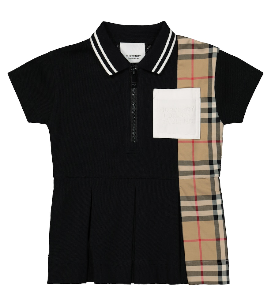 Burberry BABY VINTAGE CHECK COTTON POLO DRESS