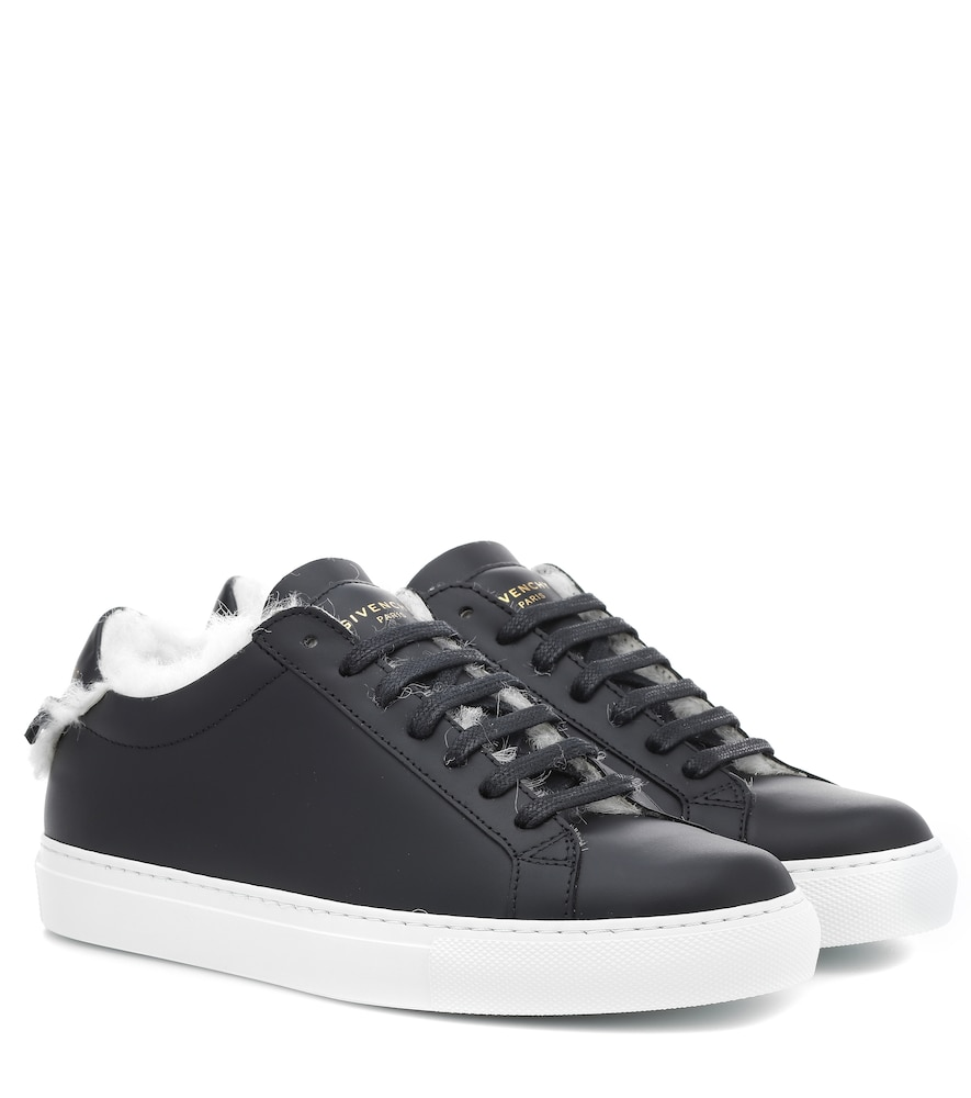 """Urban Knots"" Leather Sneakers - Black Size 9.5"