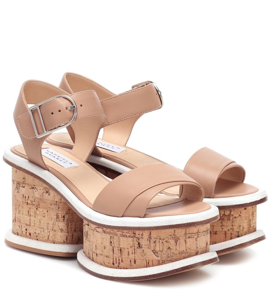 Sandales à plateau Harrigan en cuir