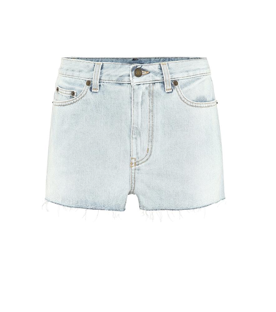 Short en jean - Saint Laurent - Modalova