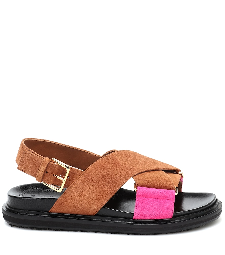 MARNI Chunky heels FUSSBETT SUEDE SANDALS