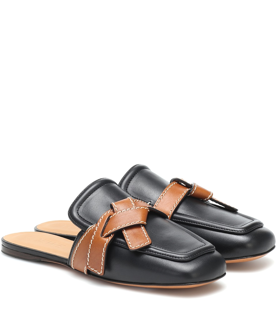 Gate leather slippers