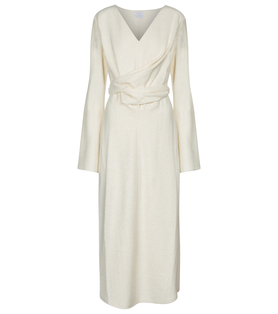 Yvette wool-blend bouclé midi dress