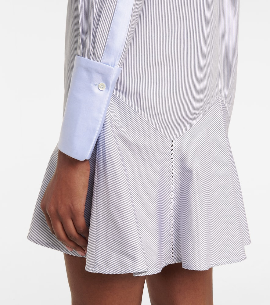VICTORIA VICTORIA BECKHAM Cottons PINSTRIPED COTTON SHIRT MINIDRESS