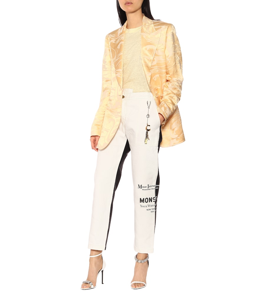 Swan silk jacquard blazer by Acne Studios