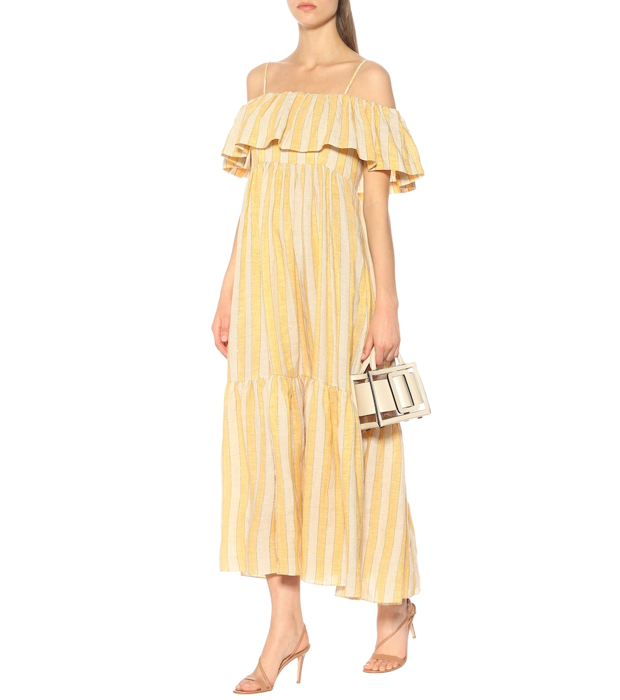 Ida off-the-shoulder maxi dress by Three Graces London