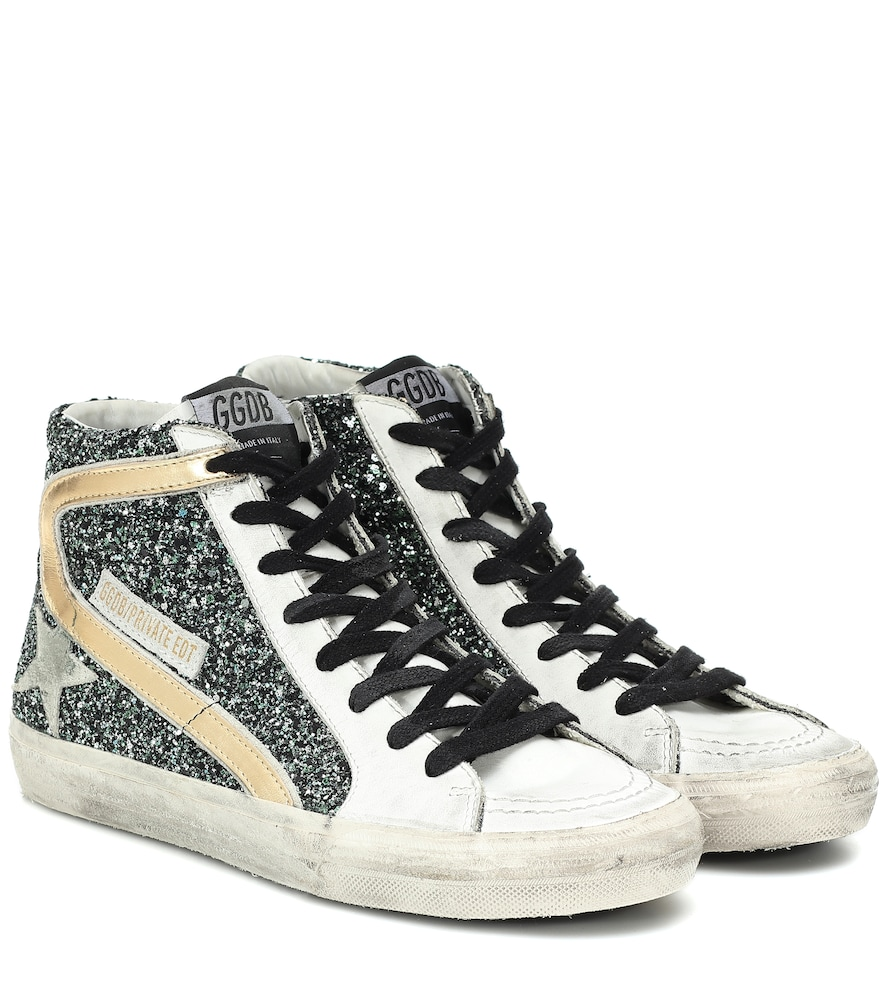 Exclusive to Mytheresa - Slide glitter sneakers