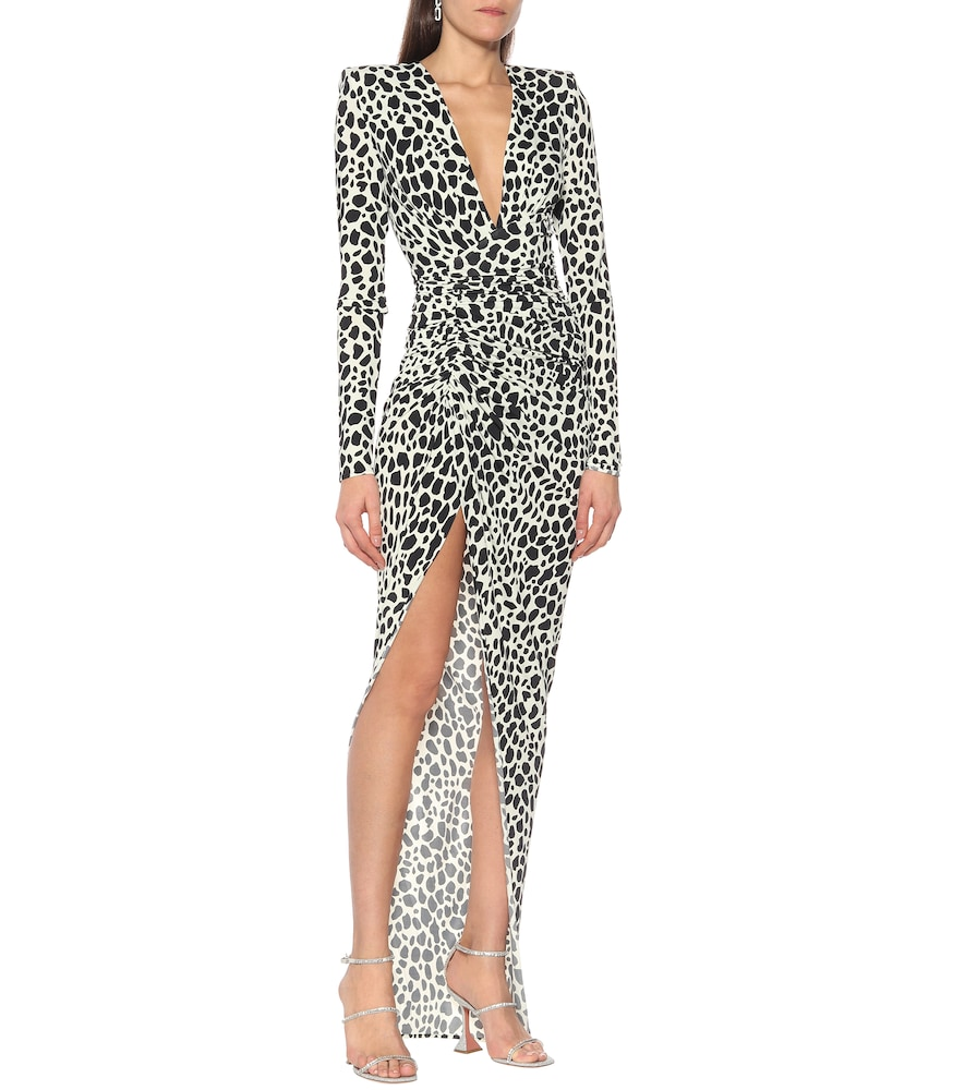 Exclusive to Mytheresa - Animal-print stretch-jersey gown by Alexandre Vauthier