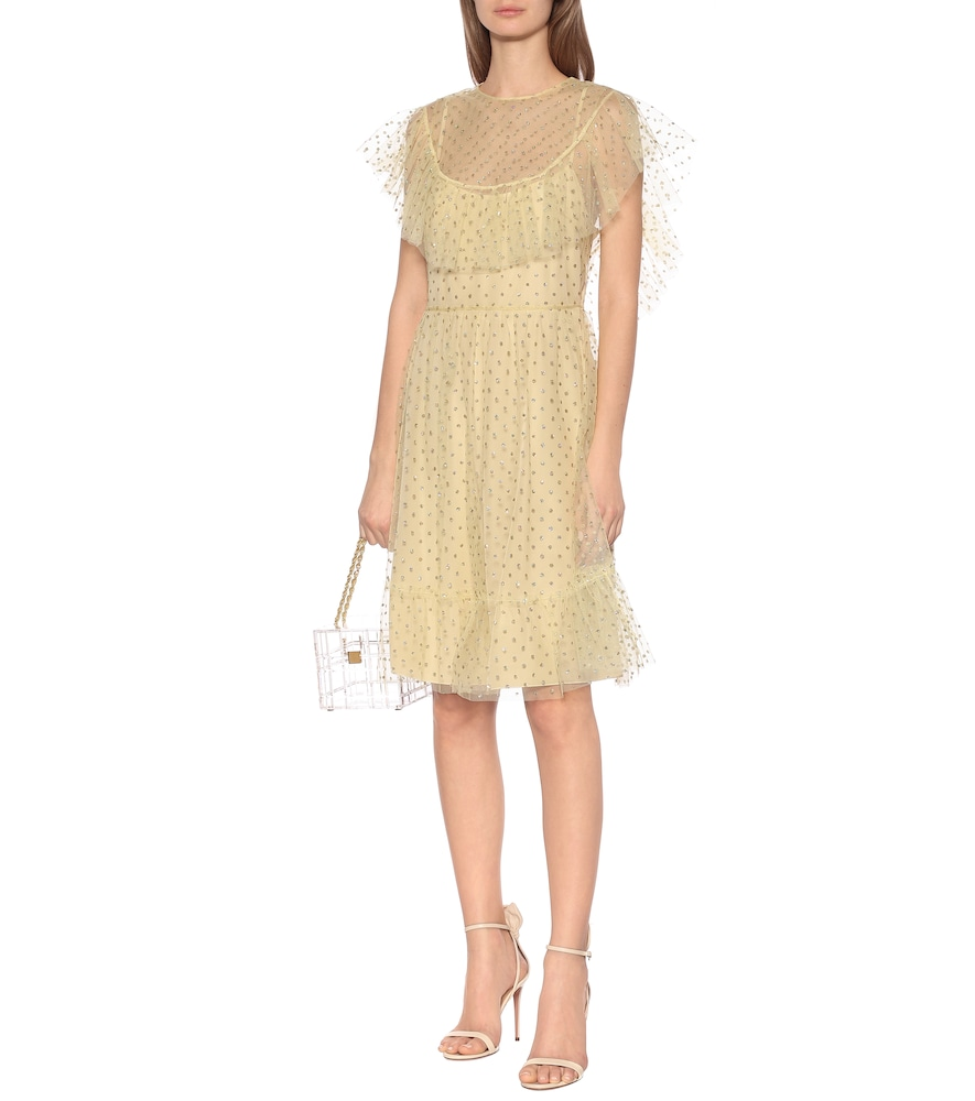 Embellished tulle minidress by REDValentino
