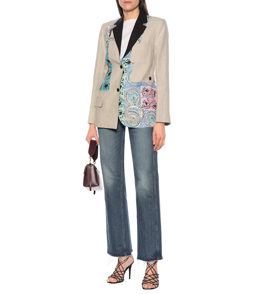 Printed linen blazer by JW Anderson
