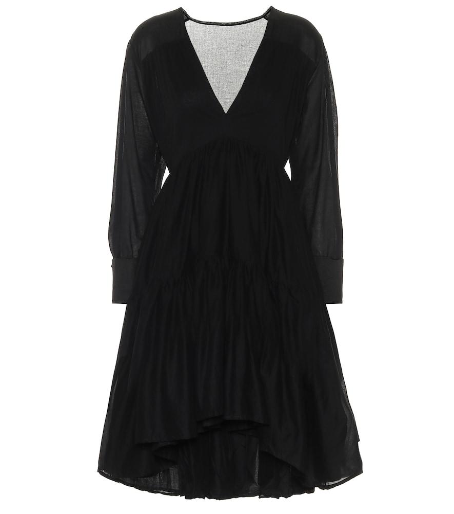 Vega cotton-voile minidress