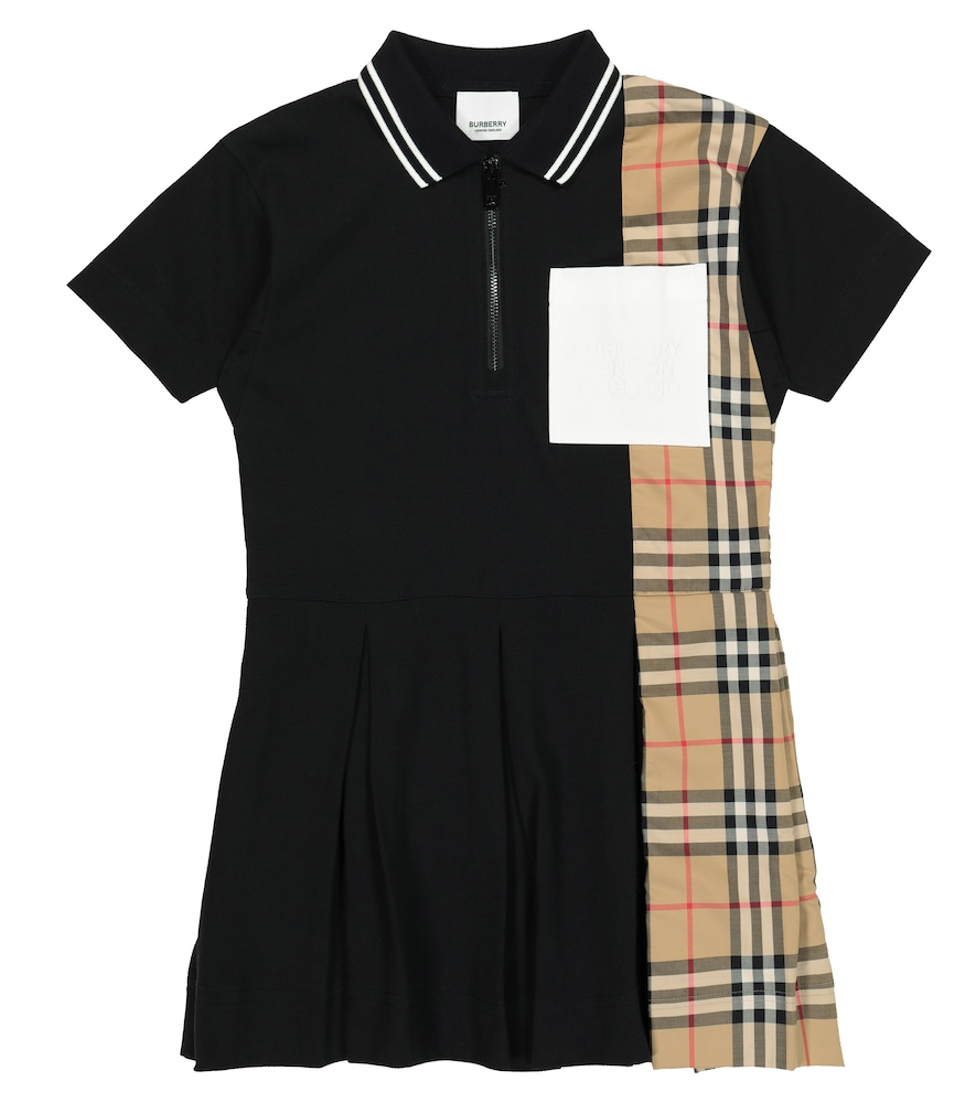 Burberry Cottons VINTAGE CHECK COTTON POLO DRESS