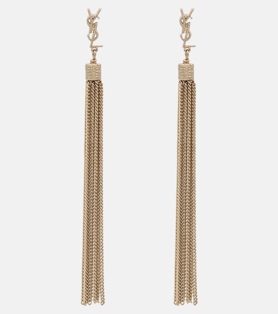 Saint Laurent Earrings LOULOU CHAIN TASSEL EARRINGS