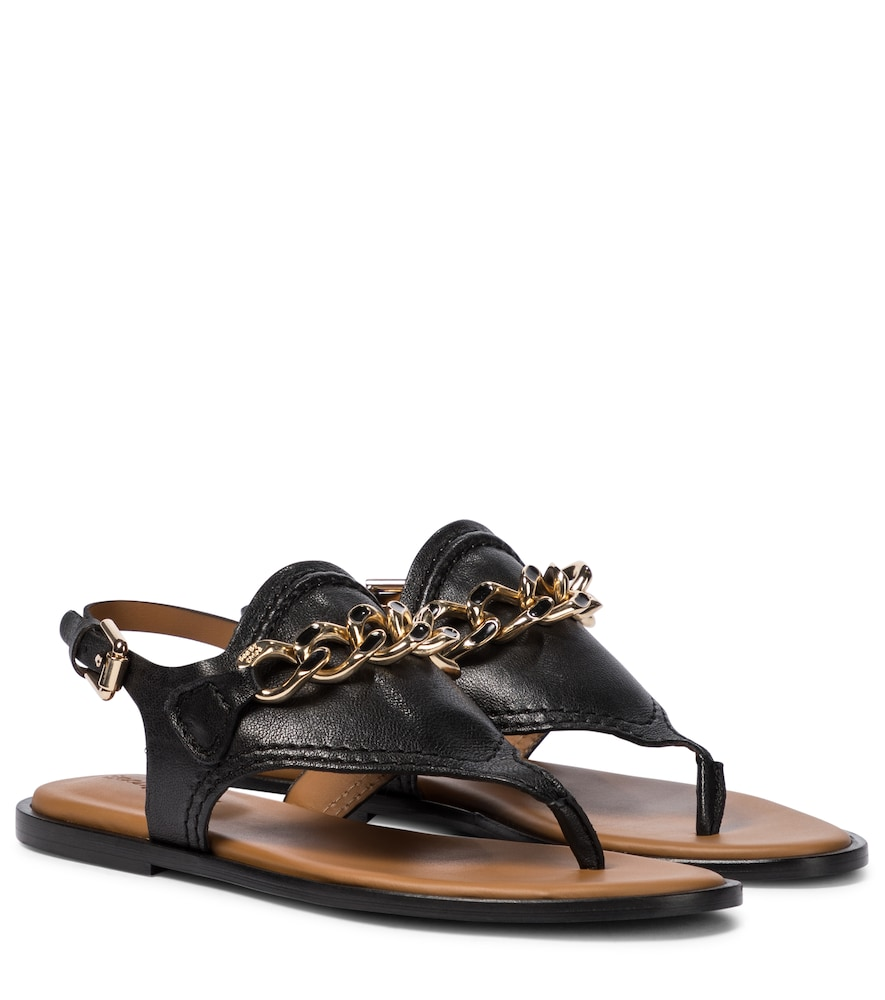 See By Chloé MAHE LEATHER THONG SANDALS