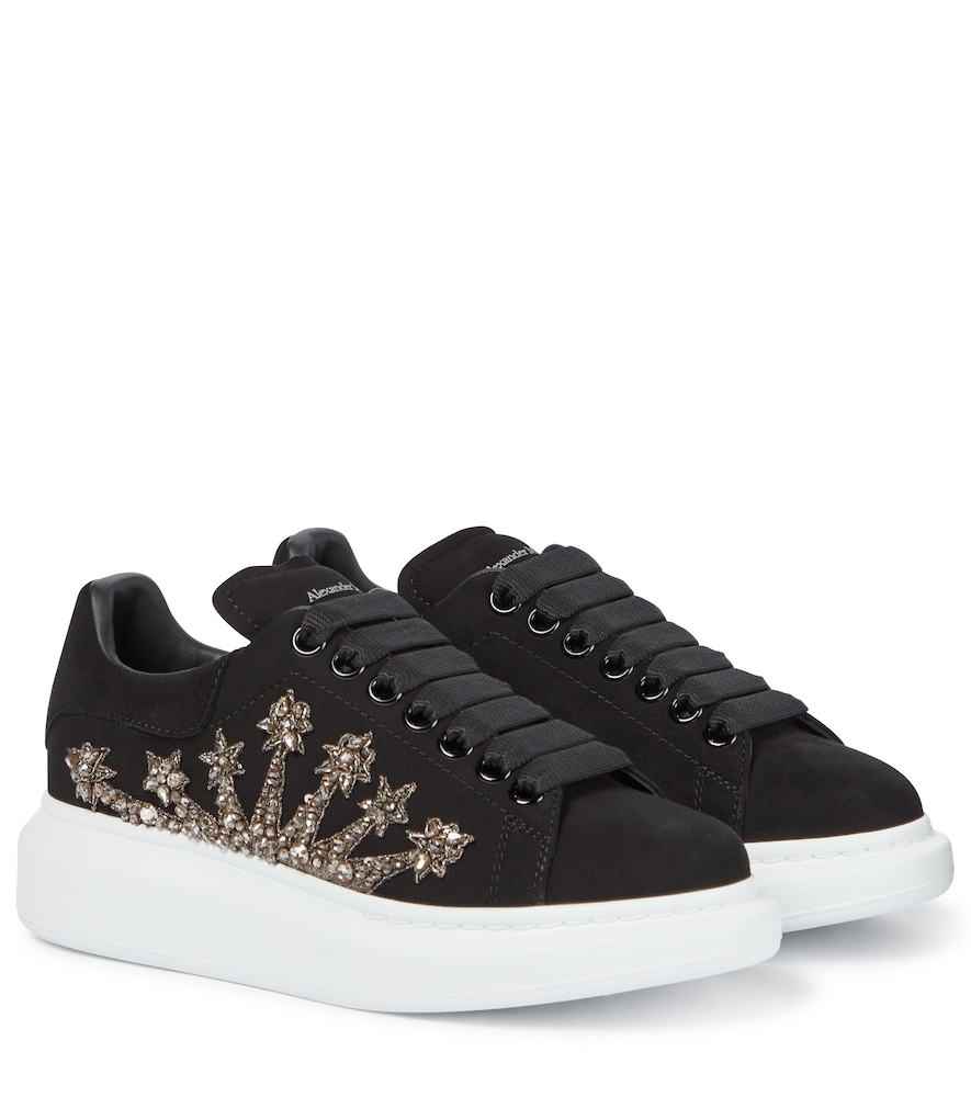 Oversized crystal-embellished sneakers