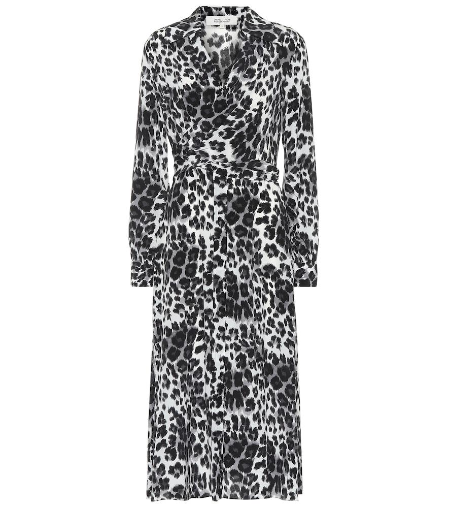 Donika printed silk midi dress