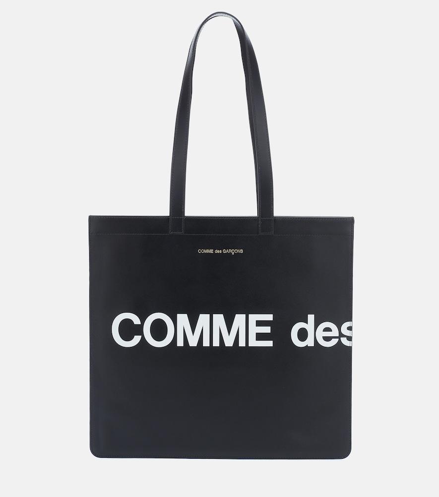 Cabas Huge Logo en cuir - Comme Des Garçons Wallet - Modalova