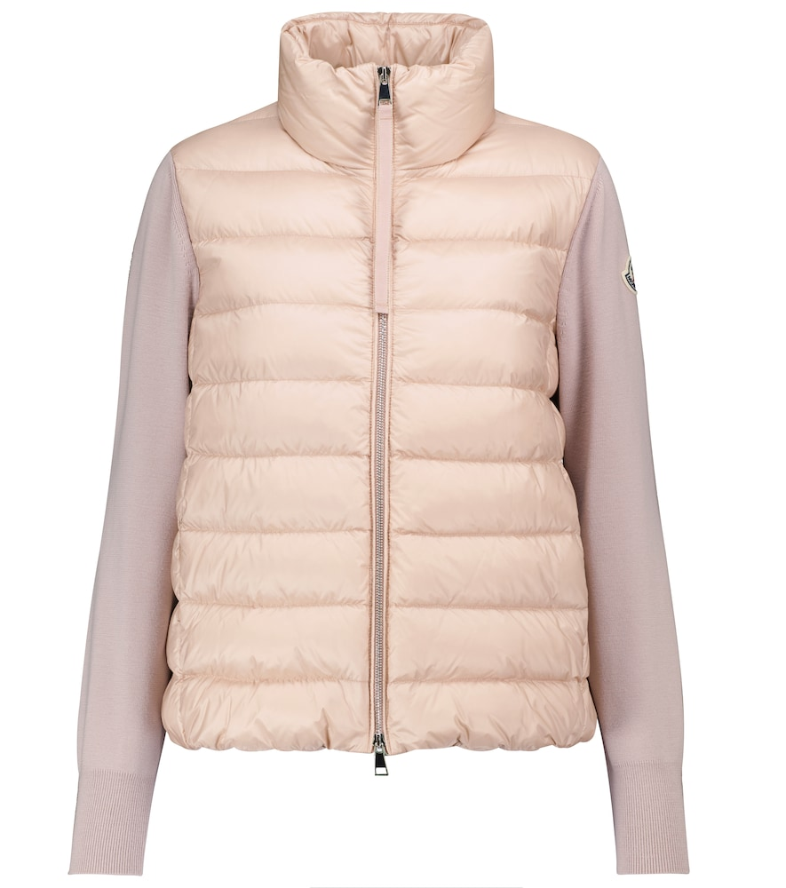 Wool and down jacket