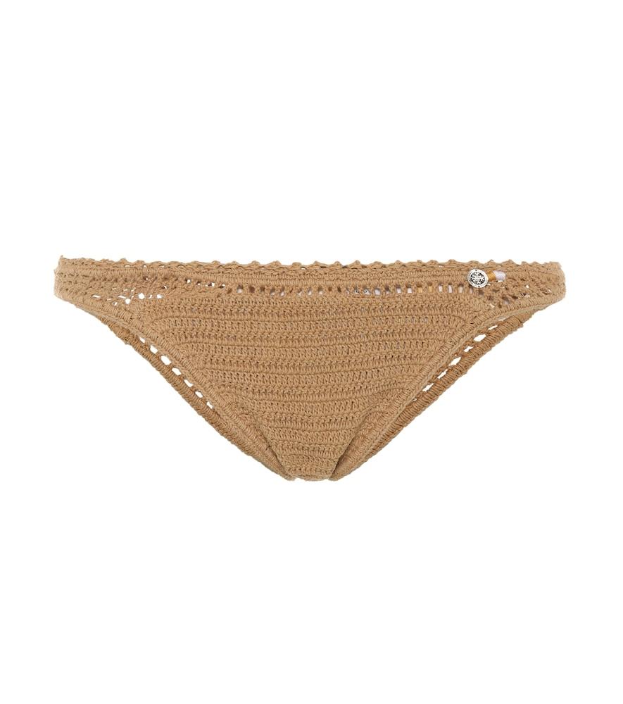 Culotte de bikini en crochet de coton