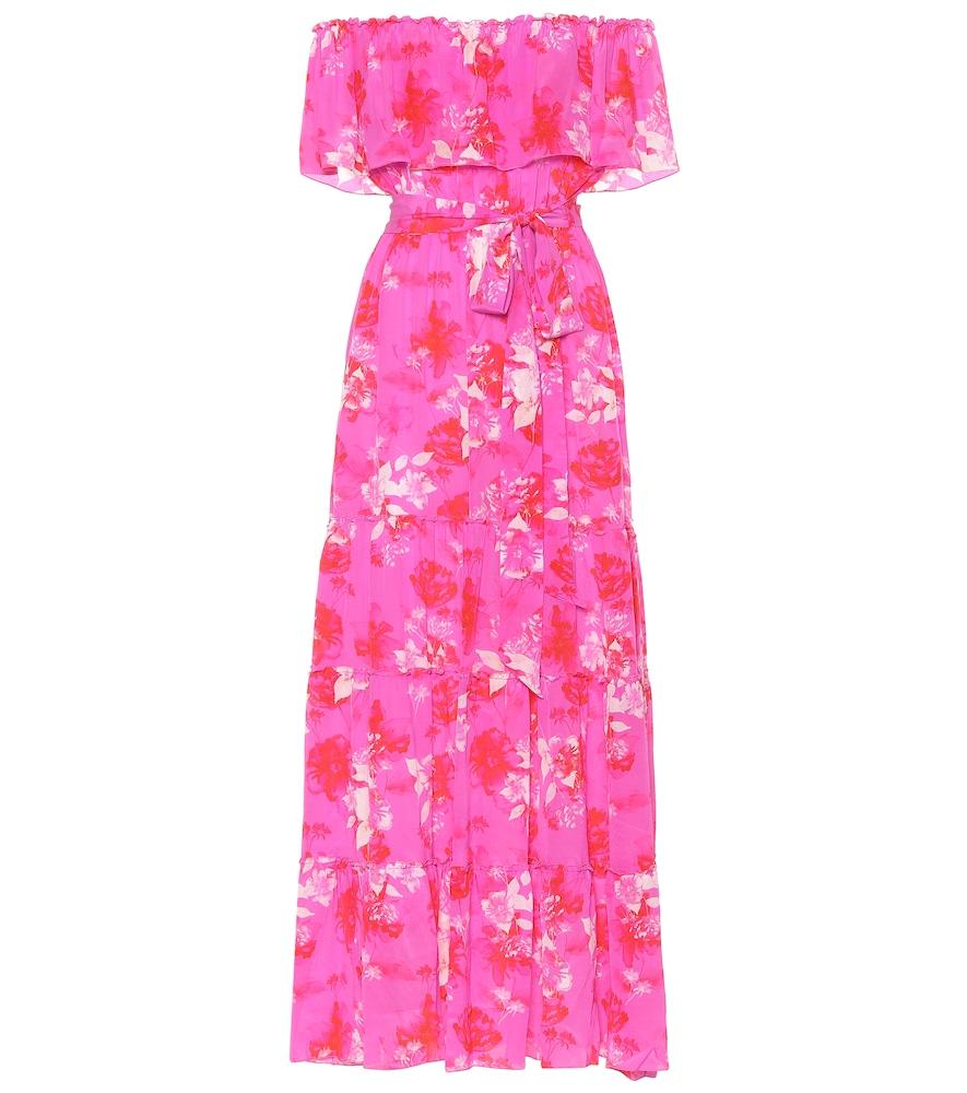 ATHENA PROCOPIOU Melrose Sunset Silk Maxi Dress in Pink