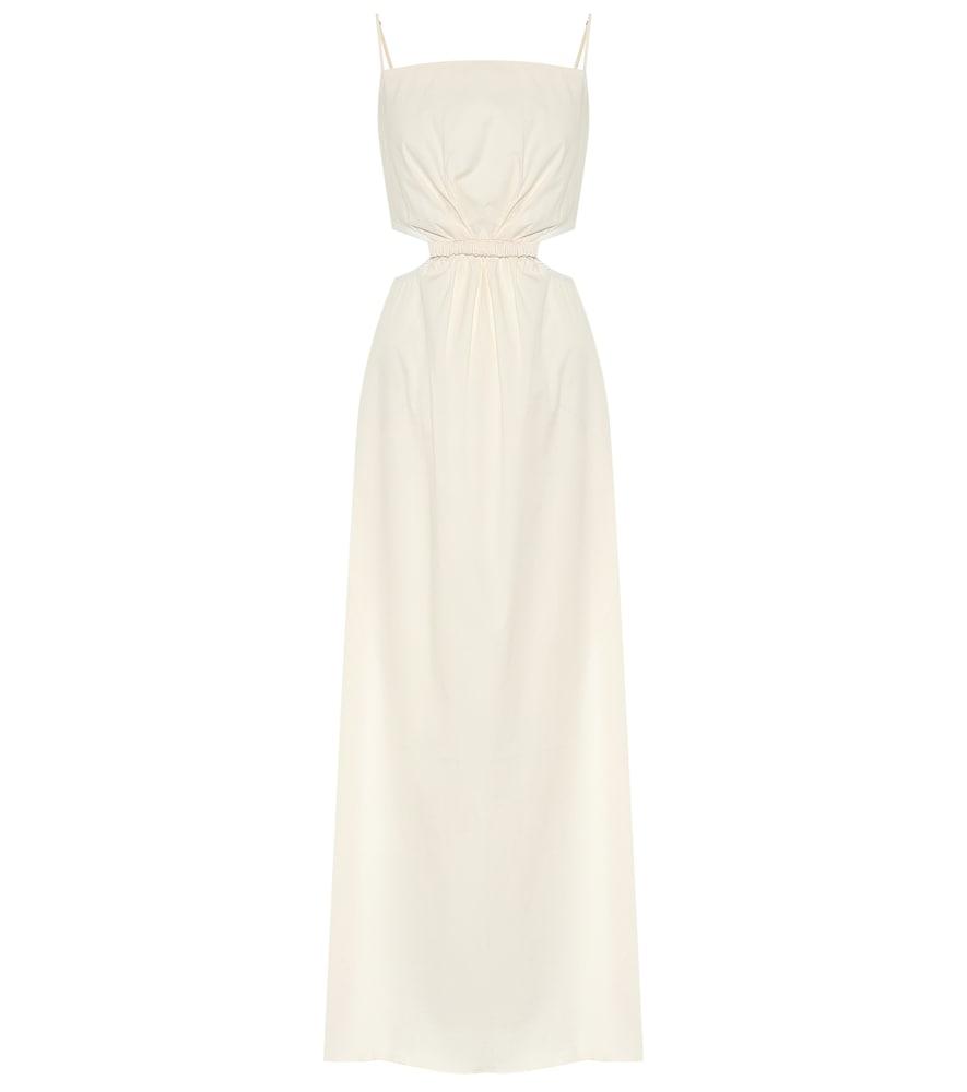 Robe longue White Sand en coton mélangé