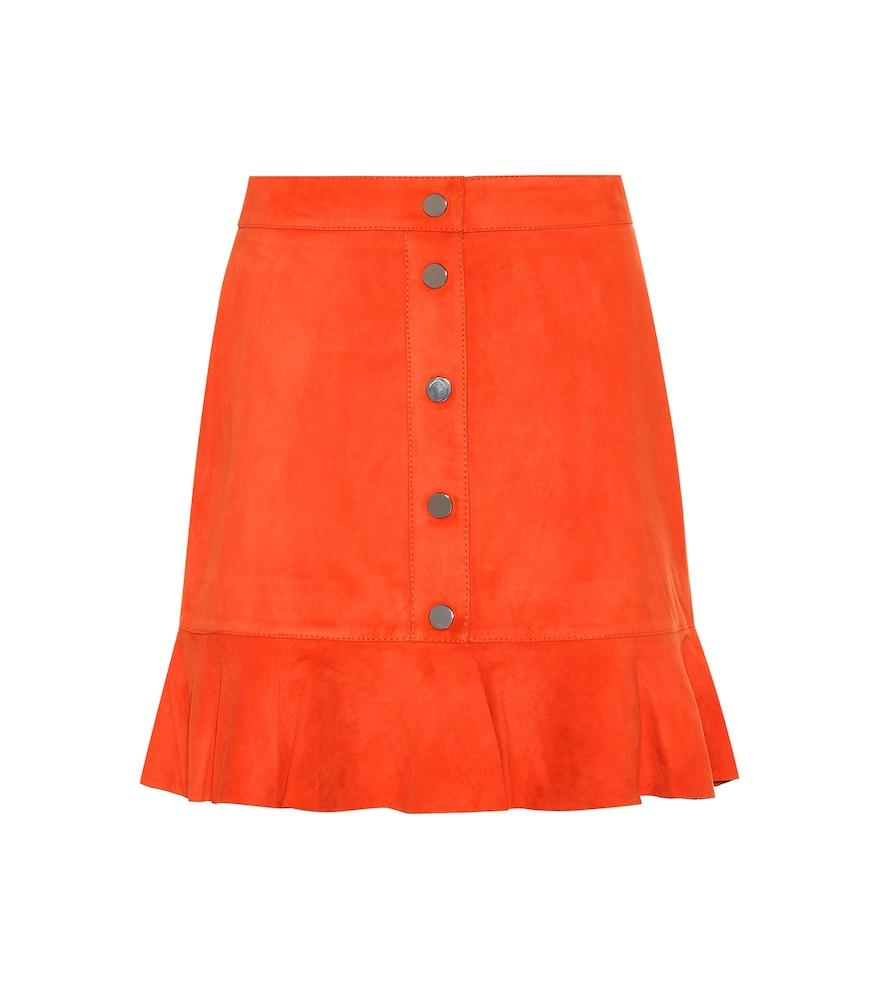 Salvia Ruffle Mini Skirt, Female