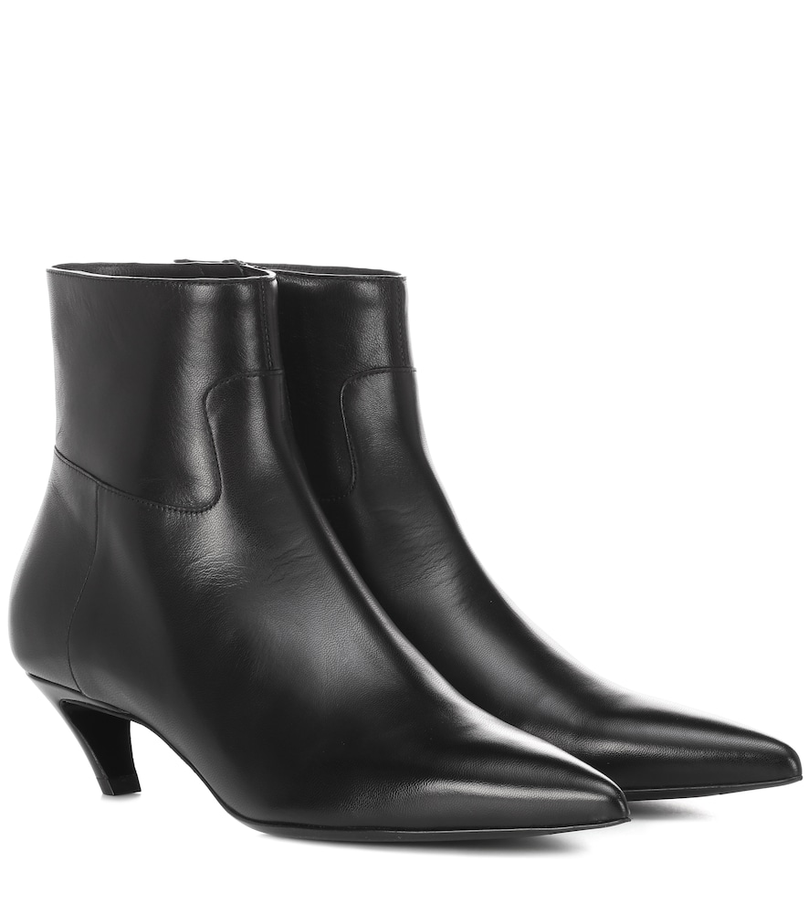 Balenciaga Patent Crooked-Heel Boot, Black (Noir) In 1000 Black