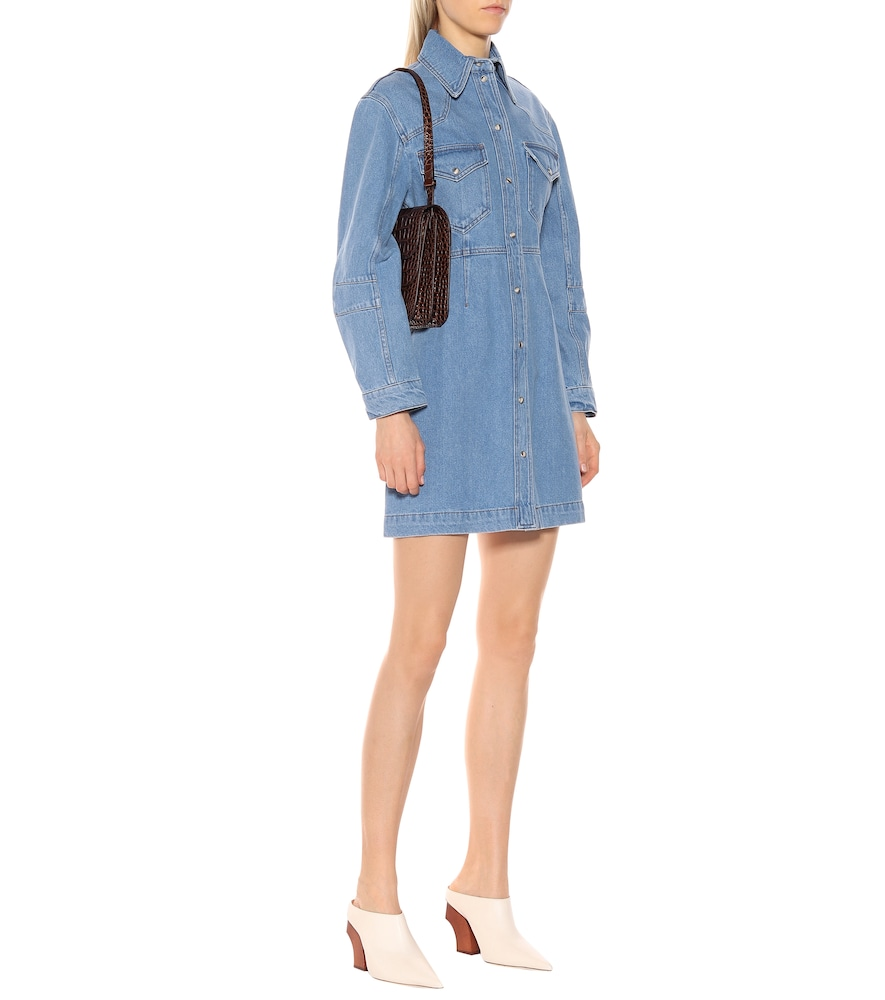 Vilma denim shirt dress by Nanushka