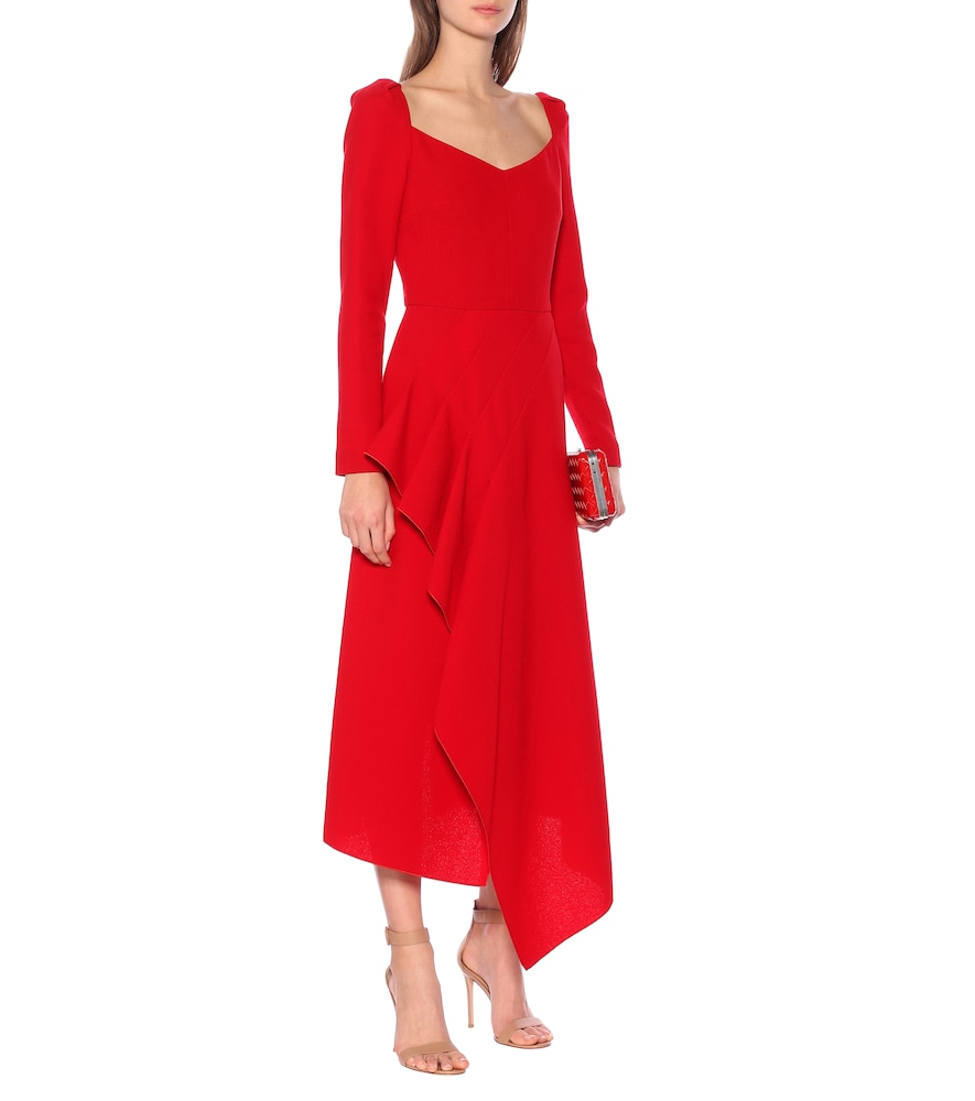 Blackwater wool-crêpe dress by Roland Mouret