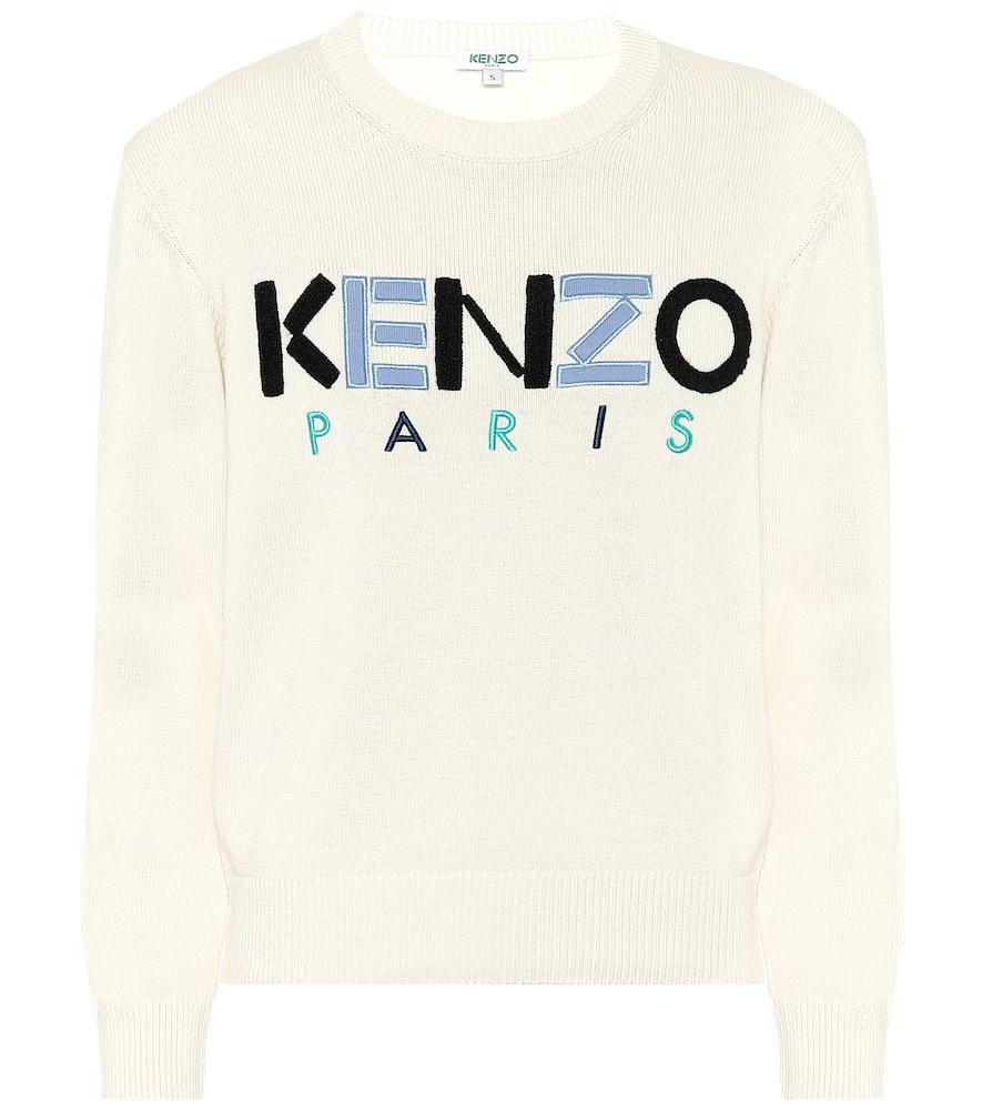 Sweat-shirt en coton à appliqués - Kenzo - Modalova