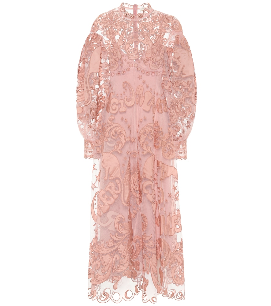 Ladybeetle Fortune tulle maxi dress by Zimmermann