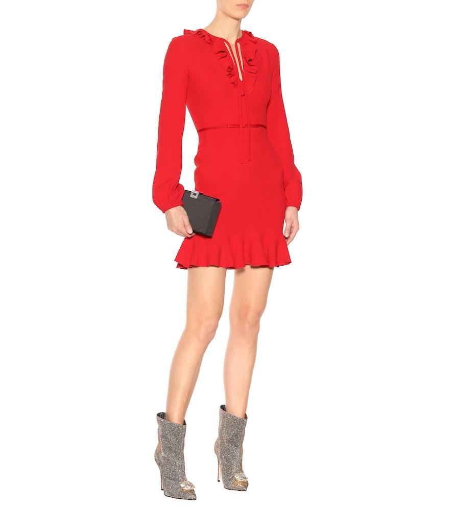 Photo of Ruffled crêpe mini dress by Giambattista Valli - shop Giambattista Valli Dresses, Short online