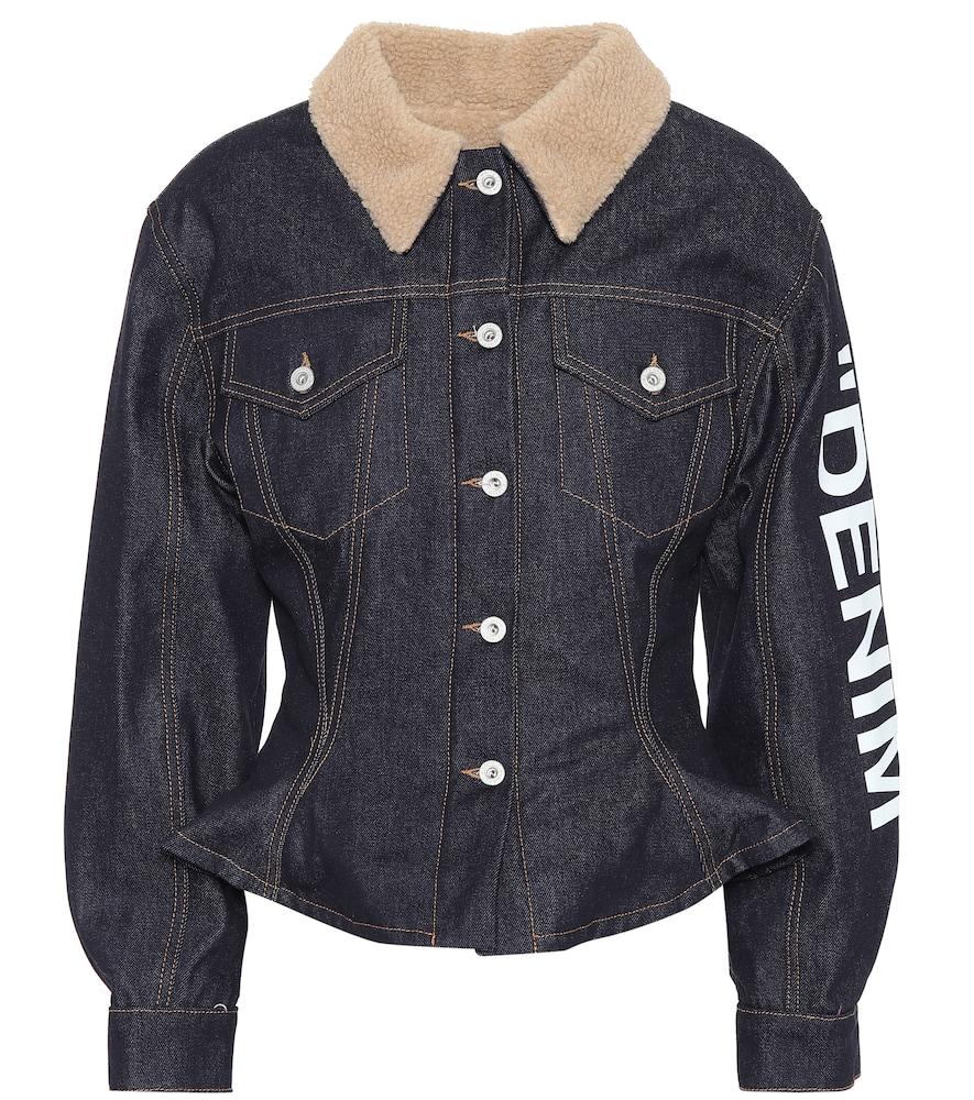 Blue Denim Puffer Jacket