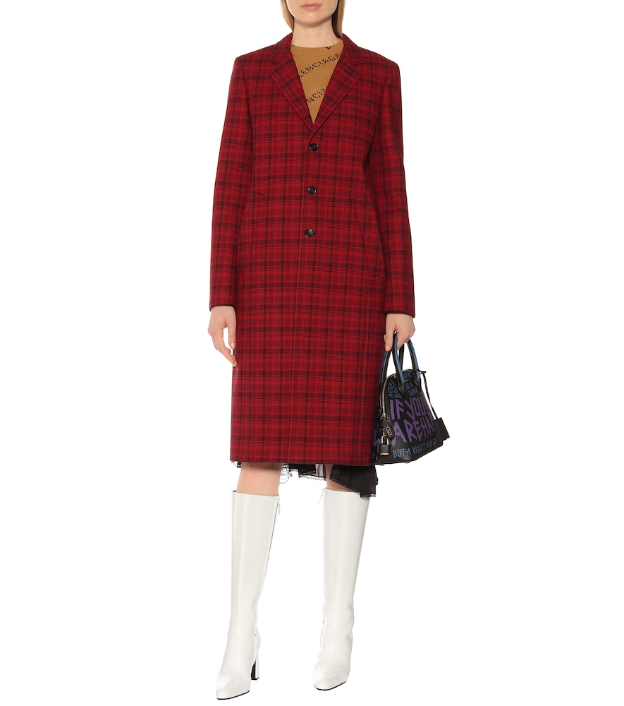 Checked cotton-blend coat by Balenciaga