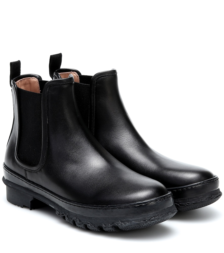 Garden leather ankle boots