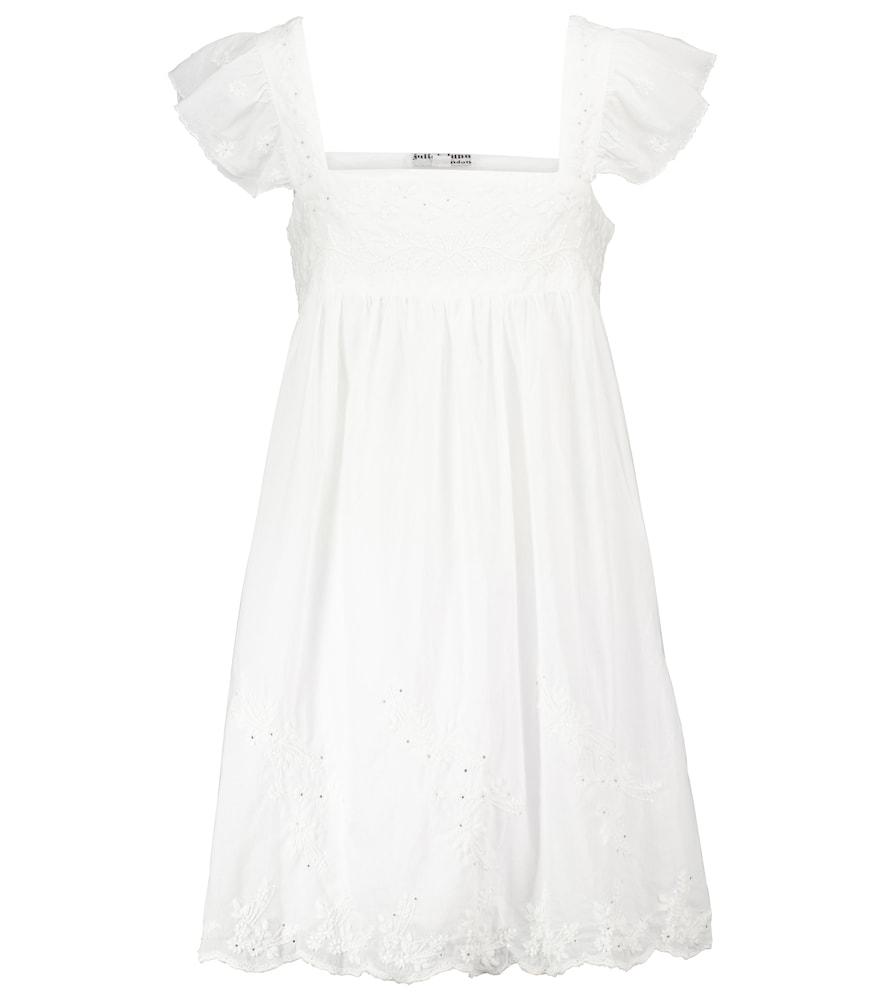 Embellished cotton minidress