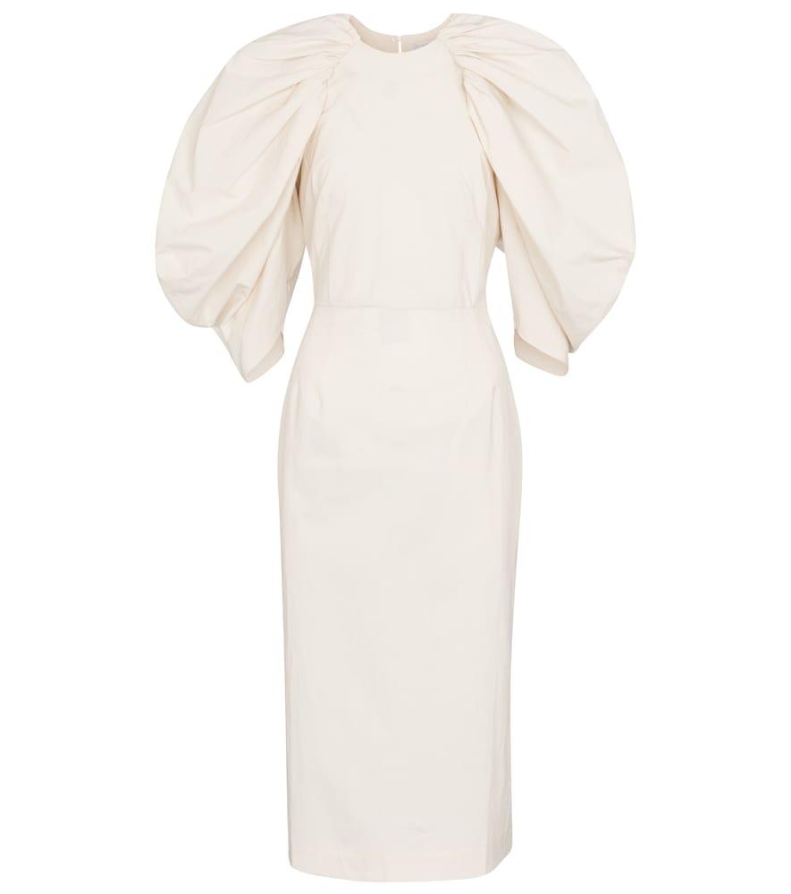 Sasha cotton poplin midi dress