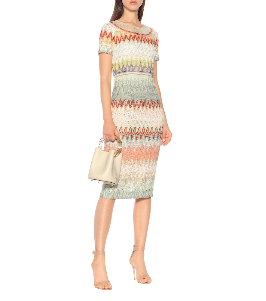 Striped knit midi dress by Missoni