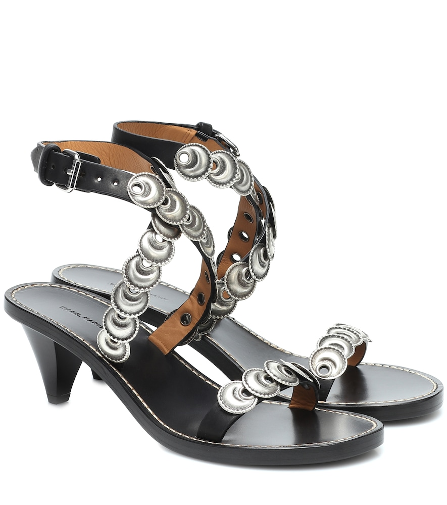 Jieva embellished leather sandals